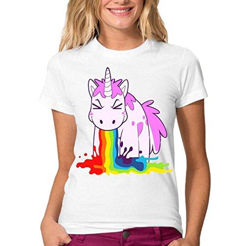 Sudaderas de Mujer Sport Manga Corta Camisetas Estampada Unicornio Impresión Tops