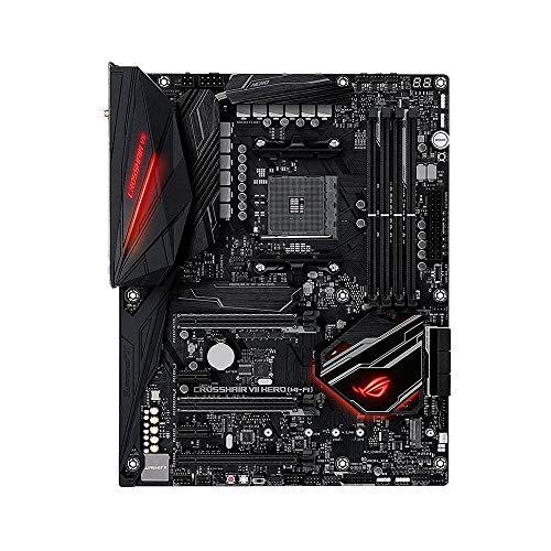Asus ROG CROSSHAIR VII HERO Wi-Fi Scheda Madre AMD X470 ATX Gaming con Dissipatore M.2, LED Aura Sync RGB, DDR4 3466MHz, doppio M.2, SATA 6Gb/s e USB 3.1 Gen 2