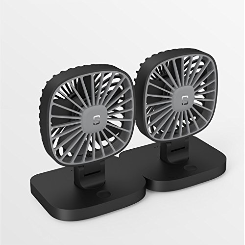 COMLIFE 5V USB Electric Car Fan, 4 Inch Rotatable Car Cooling Fan with 3 Speeds, Quiet Powerful Car Air Circulator Fan for All Family Car, Sedan, SUV, Golf Cart, Truck, Boat or Other Vehicles,2 Pack