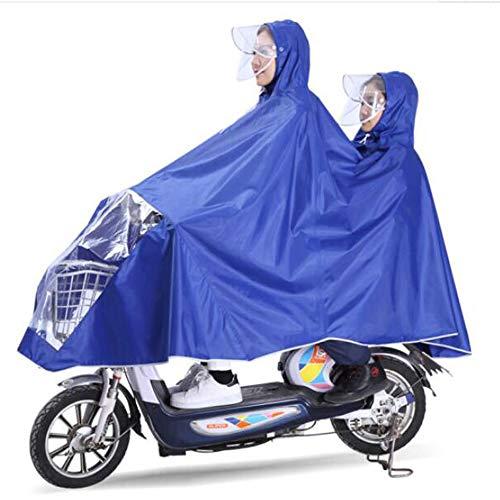 GYYFF Poncho Divertido Doble para la Madre y el niño, Bicicleta eléctrica,...