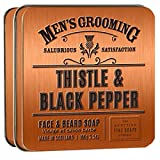 Thistle and Black Pepper Men's Face and Beard Scottish Soap