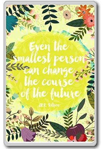 Zelfs de kleinste persoon kan veranderen. - JR.R. Tolkien - Motivationele Citaten Koelkast Magneet