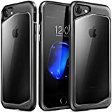 iPhone 8 Case, iPhone 7 Case, Clear Scratch Resistant Transparent Back Cover with TPU Rubber Sh…