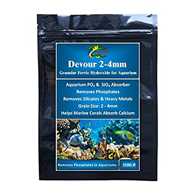 HYDRA DEVOUR 250G (Grain size 2.0-4.0MM) Phosphate & Silicate Remover for Aquariums for Filter Bags