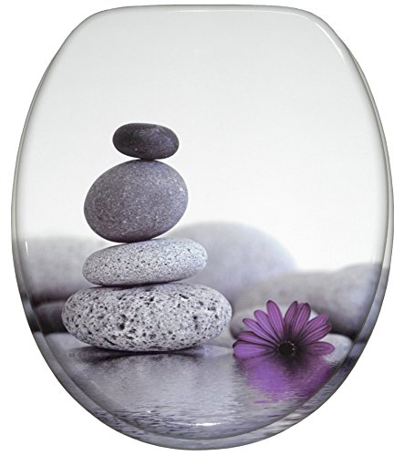 WC Sitz, hochwertige Oberfläche, einfache Montage, stabile Scharniere, Energy Stones