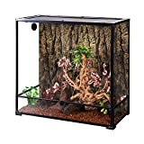 REPTI ZOO Large Glass Reptile Terrarium 100 Gallon, Front Opening Reptile Habitat Tank 36' x 18'x 36', Wide & Tall Vivarium Tank with Top Screen Ventilation (Knock-Down)