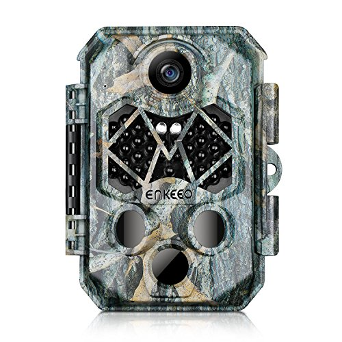 ENKEEO PH770 Trail Camera 20MP 1080P HD Game Cam Wildlife Hunting Cameras with 45pcs 940nm IR LEDs Night Vision, IP66 Water Resistant, 0.2s Trigger Time, 2.4 LCD Screen