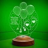 Nachttischlampe Kinder Personalisierte Geschenke Baby Led Lampe Wunschtext Schlummerlicht Farbwechsel Deko Lampe Taufe Willkommen Baby Geschenk