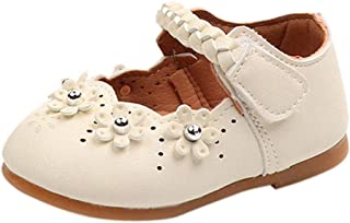 Shoes,Toddler Kids Baby Girls Princess Flower Weave Band Leather Mary Jane Single Crib Shoes