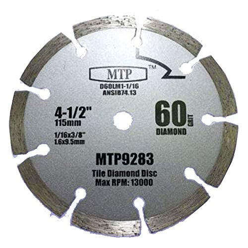 60 Grits 4-1/2' 4.5 inch Diamond Circular Saw Blade for Rockwell Rk3441k, Worx WX429L 9.5mm/ 3/8' arbor Tile Grout Concrete, Brick, Block, Masonry