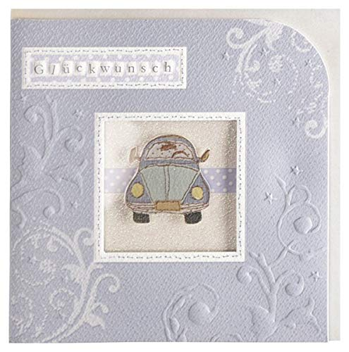 Glückwunschkarte handmade Führerschein Neues Auto oder nur so