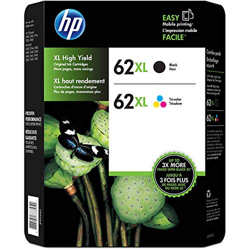 Genuine HP 62XL Black and Color ...