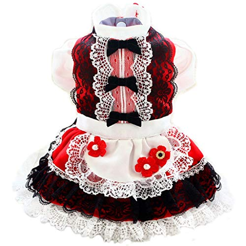 JJZXD Handmade Dog Clothes Pet Dress Noble Princess Gold Lace Collar Tutu Black Fungus Edge Skirt Evening Dress (Size : XX-Large)