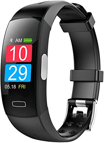 OOLIFENG Fitness Tracker Bracelet avec IP67 étanche Montre Intelligente, Traqueur d'activité Montre et Pression artérielle Cardiofréquencemètre, Pédomètre pour iPhone Android