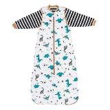 Slumbersac - Saco de dormir para bebé (todo el año, 2,5 tog, con mangas desmontables) Dinosaurios Talla:110 cm