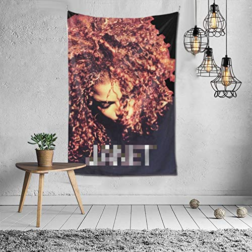 Nanajang Janet Jackson Poster Tapestry Wall Mount Picnic Board Wall Art Deco Wall Cover 60 x 40 inches