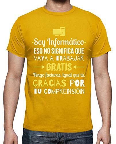 latostadora - Camiseta Soy Informatico para Hombre Amarillo Mostaza 3XL