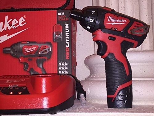 "MILWAUKEE 2401-21 M12 Cordless 1/4"" Hex Screwdriver Kit"