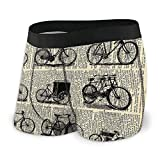Adamitt Bicicleta Invención Time Calzoncillos Transpirables Ropa Interior Boxer Shorts para Hombres y niños
