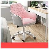 TAIDENG Silla de oficina para computadora de tela cómoda, silla de oficina, altura ajustable, con base cromada, silla giratoria, muebles para el hogar/oficina (color: tela gris polvo a juego)
