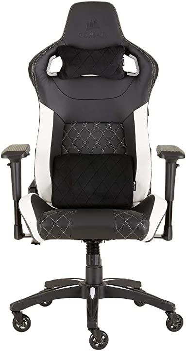 Sedia gaming pelle 58 x 58 x 144 cm nero e bianco corsair t1 race CF-9010012-WW