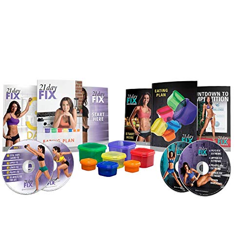Beachbody 21 Day Fix & 21 Day Fix Extreme Zubehörset + DVDs Bundle
