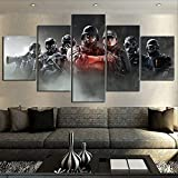 HIMFL 5 Panel Tom Clancy's Rainbow Six Siege Spiel Poster
