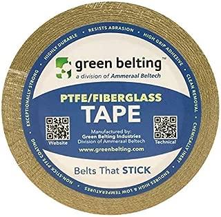 Green Belting PTFE Adhesive Tape | High Temp PTFE Coated Fiberglass - 100-3S, 0.5 in x 18 Yards (3 mil), Box of 2