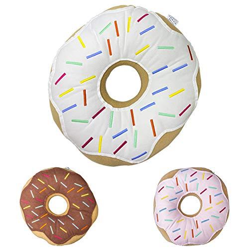 Mabel Home Throw Pillow 14' , Donut, 3D Digital Print Decorative Comfortable Soft Plush Funny Food...