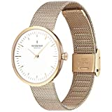 Nordgreen Infinity Scandinavian Gold Unisex Analog 32mm (Small) Watch with Gold Mesh Strap 10029