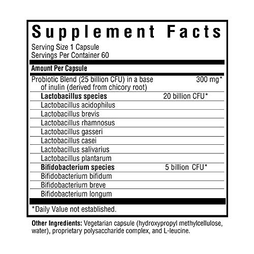 Probiota Woman   10 Probiotic Species   60 Easy-to-Swallow Vegetarian Capsules
