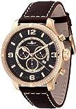 Zeno-Watch Reloj Mujer - Oversized Retro Chrono Parisienne Gold Plated - 8830Q-Pgr-h1