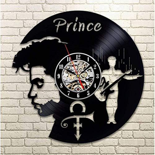 Prince foto Vintage Vinyl Wandklok Quartz Wandklok Antieke Stijl Grote Decoratieve Vinyl Record Clock