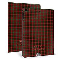 KUKUYE iPad mini4 ケース ペンホルダー付き オートスリープ レザー カバー アイパッドミニ4 スタンド機能付き ビジネス 在宅 おしゃれ 男女 兼用一族家族 タータンチェック