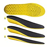 Bacophy Height Increase Elastic Shock Absorption Sports Insoles for Men and Women, Replacement Breathable Honeycomb Cushioning Soft Shoe Lifts