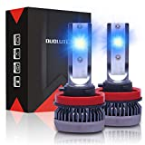 DUOLUTONG H11/H8/H9 LED Headlight Bulbs, 8000K Super Bright Blue Headlights, 60W 12000LM 360° Adjustable Ice Blue Low Beam Fog Light Conversion Kit, Pack of 2
