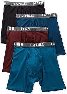 Hanes mens Comfort Flex Fit Ultra Soft Cotton Modal Blend Boxer Brief 4-Pack Boxer Briefs