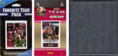 C & I Collectables NFL San Francisco 49ers Lizenziertes Sammelkarten-Team-Set mit Aufbewahrungsalbum