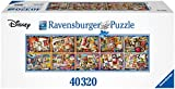 Ravensburger Mickey Through The Years 40,320 Piece Jigsaw Puzzle - World's Largest Mickey Puzzle - Mickey 90th Anniversary Edition