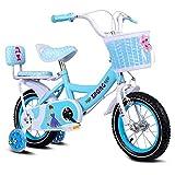 AJZGF Velo Enfant Vélo d'enfant Princess Student Bike Girl vélo à pédales 12'14'...