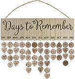 Calendario Promemoria Compleanno in Legno,FANDE Bacheca in Legno Creativa Fai-Da-Te, Targa a Muro, Artigianato in Legno Decorazione Domestica di Anniversario