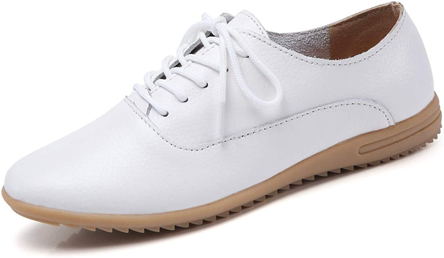 T-JULY Spring Women Lace-up Ballet Flats Leather Loafers Ladies Ballerines Flats shoes