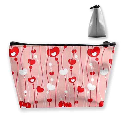 Sac de rangement portable pour la Saint-Valentin Cœur Amour de Maquillage de Grande Capacité Sacs de Voyage à Main Sac de Lavage