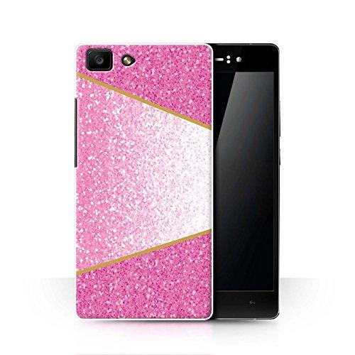 Hülle Für Oppo R5 Glitter Muster Effekt Rosa Geometrisch Design Transparent Ultra Dünn Klar Hart Schutz Handyhülle Case