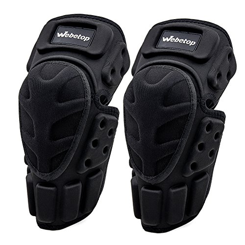 Webetop Motorcycle Knee Pads Adult High-Impact Shield-Resistance Flexible Breathable Adjustable Aramid Fiber +EVA Motocross MTB Shin Guards for Riding Skating Cycling
