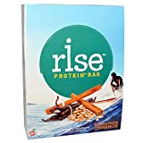 Rise Pea Protein Bar, Sunflower Cinnamon, Soy Free, Paleo Breakfast & Snack Bar, 15g Protein, 5 Natural Whole Food Ingredients, Simplest Non-GMO, Vegan, Gluten Free, Plant Based Protein