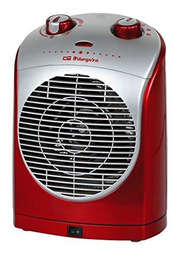 Orbegozo FH 5025 - Calefactor oscilante, termostato regulable, 2 niveles de potencia, protección contra sobrecalentamiento, función ventilador, 2200 W