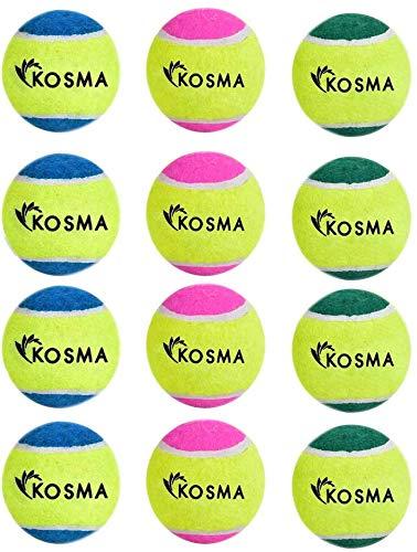 Kosma - Juego de 12 pelotas de tenis para mascotas