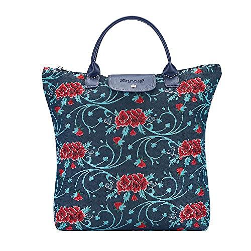 Signare Tapiz plegable bolsa de compras reutilizable con diseño de arte popular mexicano, color, talla Talla única