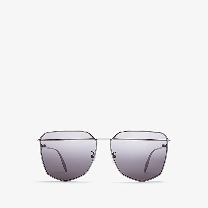 Alexander McQueen  AM0136S (Ruthenium) Fashion Sunglasses